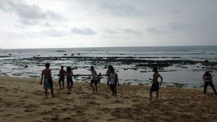 Pantai Pancur saat mendung