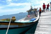 perahu terparkir rapi